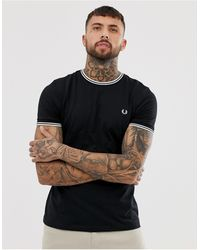 Fred Perry Camiseta Twin Tipped Negra - Negro