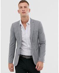 ASOS Super Skinny Jersey Blazer - Gray