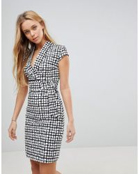 Liquorish - Cap Sleeve Check Dress With D-ring And Attached Belt - Lyst