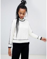 Mango - Contrast Stripe Piping Jumper - Lyst