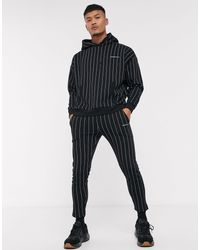 Good For Nothing Cropped Tapered Striped jogger - Black