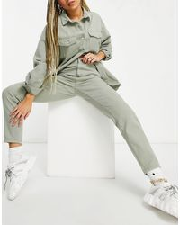 Missguided Co-ord Riot Mom Jean - Green