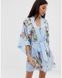 Ted Baker - Kimono con estampado de flores en azul Harmony de B By - Lyst