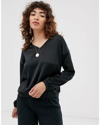 ONLY Batwing Sleeve Top-green - Black