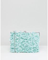 Chi Chi London - Floral Applique Clutch Bag - Lyst
