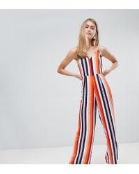 b665aa94a2 Miss Selfridge - Jumpsuit In Rainbow Stripe - Lyst