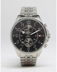 Tommy Hilfiger - Dean Chronograph Bracelet Watch In Stainless Steel - Lyst