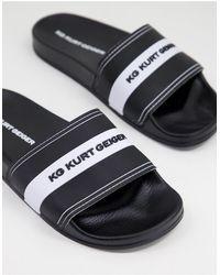 KG by Kurt Geiger Ryder Sliders - Black