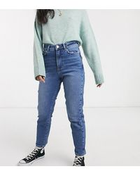 New Look Waist Enhancing Mom Jeans - Blue