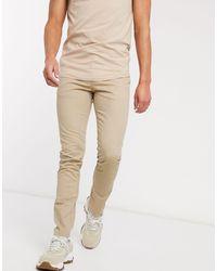 Celio* Slim Trousers - Natural