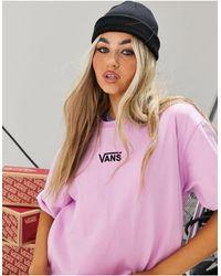 Vans Розовое Платье-футболка Center Vee-фиолетовый Цвет - Пурпурный