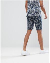 Bellfield - Pantalones cortos chinos con estampado ondeado - Lyst