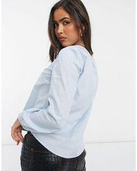 Y.A.S - Голубая Рубашка Двубортного Фасона На Пуговицах -многоцветный - Lyst
