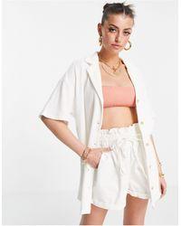 Rhythm - Белая Пляжная Рубашка Из Вязаного Трикотажа От Комплекта Josie-белый - Lyst