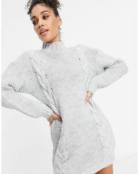 Naanaa Pull en tricot torsadé - clair - Gris