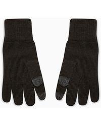 TOPMAN - Перчатки Черного Цвета С Белыми Вкраплениями Для Сенсорных Экранов -черный Цвет - Lyst