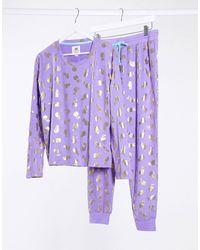 Chelsea Peers Pyjamaset Met Ananasprint - Roze