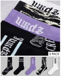 TOPMAN X Asos Tube Sock 5pk - Multicolour