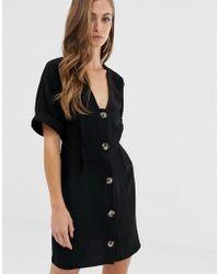 ASOS - Button Through Mini wiggle Dress - Lyst
