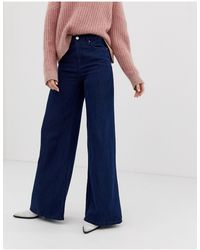 Free People Jean coupe large à taille super haute - Bleu