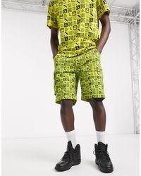 Calvin Klein Желтые Шорты С Принтом -желтый