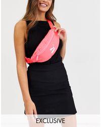 PUMA Неоново-розовая Сумка На Пояс Lux-розовый - Многоцветный
