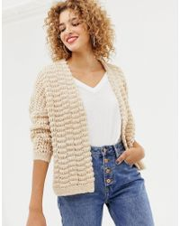 ONLY - Chunky Knit Cardigan - Lyst