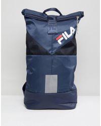 Fila - Salter Backpack In Navy - Lyst