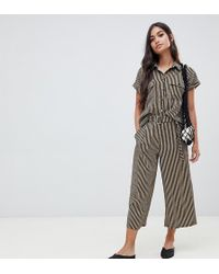 New Look - Stipe Culottes - Lyst