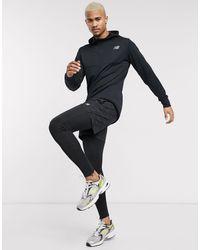 New Balance Running Tenacity Quarter Zip Hooded Jacket - Black
