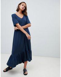 Kowtow Maxi Dress In Organic Cotton Jersey - Blue