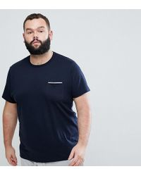 French Connection - Plus Tipped Pocket T-shirt - Lyst