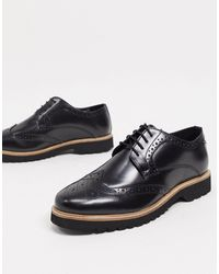 Ben Sherman Leather High Shine Lace Up