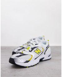 New Balance Кроссовки Белого, Желтого И Темно-синего Цветов 530-белый