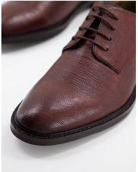 Walk London Коричневые Туфли Дерби Из Фактурной Кожи Oliver-коричневый Цвет