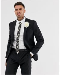 River Island Wedding Skinny Suit Jacket - Black