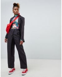 Monki - Press Collection Tailored Wrap Pants - Lyst