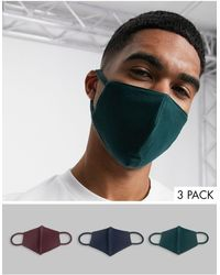 ASOS 3 Pack Organic Cotton Face Covering - Multicolor