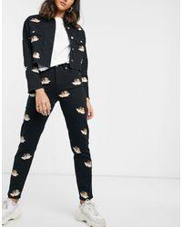 Fiorucci All Over Mini Angels Tara Jeans - Black
