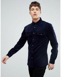 ASOS - Slim Cord Western Shirt - Lyst