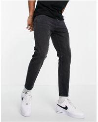 TOPMAN Stretch Tapered Jeans - Black