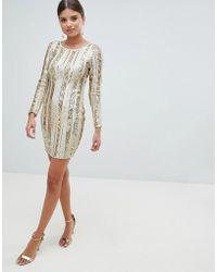 Girl In Mind - Open Back Sequin Mini Dress - Lyst