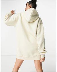 Public Desire Motif Oversized Hoodie Sweatshirt Dress - Natural