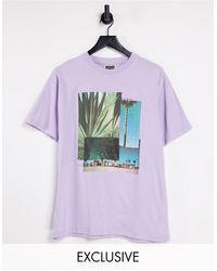 Reclaimed (vintage) - Inspired - T-shirt grafica lilla - Lyst