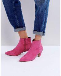 ASOS   Reanne Suede Kitten Heeled Boots   Lyst