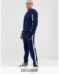 Reebok sweatpants With Side Stripe - Blue