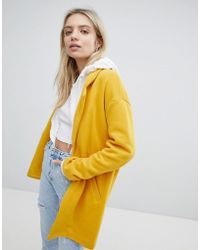 Pull&Bear - Longline Tailored Coat With Pocket Detail - Lyst