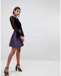Warehouse - Sparkle Mini Skirt - Lyst
