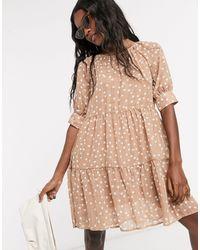 Object Linen Smock Dress - Brown