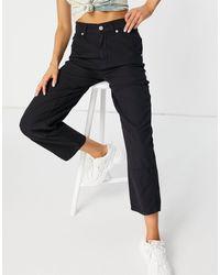 Whistles Pantalones negros cargo con detalle